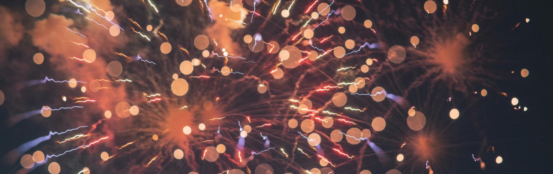 fireworks exploding