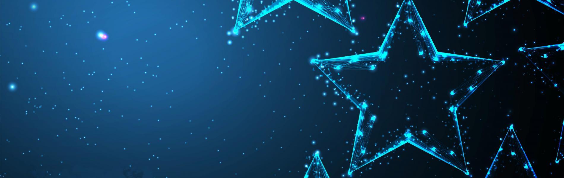 blue stars on dark blue background
