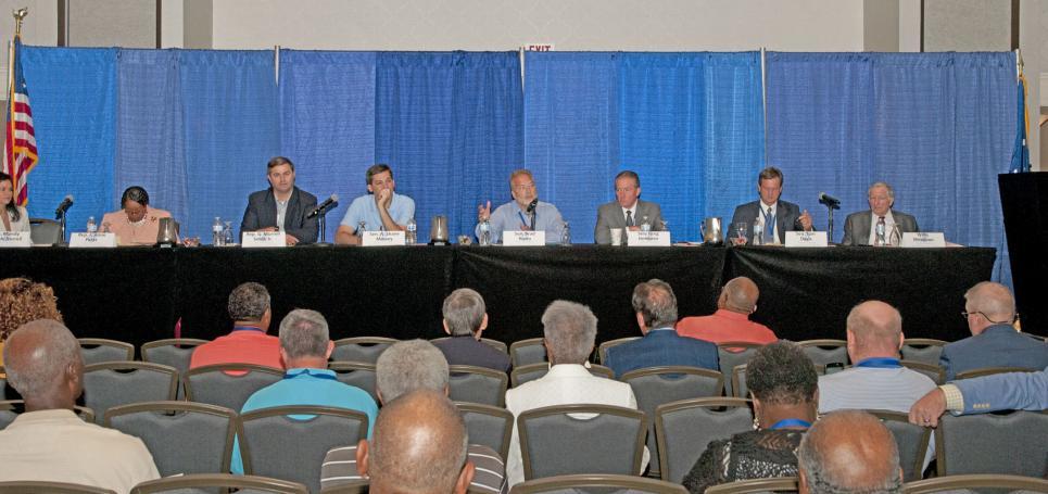 Legislative panel at CCC meeting