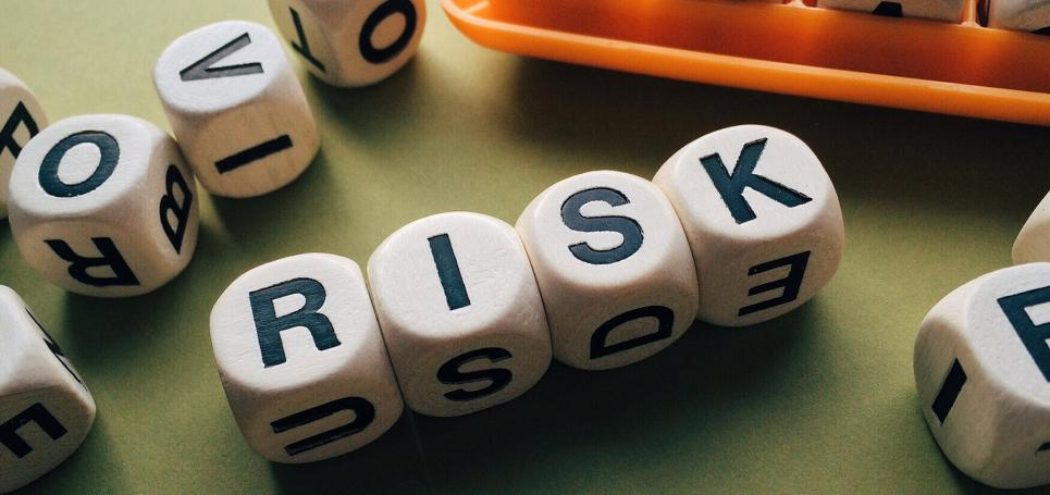 Risk spelled out on game cubes