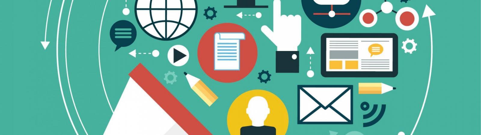 digital communications graphic